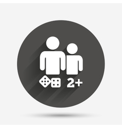 Board games sign icon two plus players symbol vector