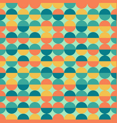Abstract colorful half circles seamless geometric vector