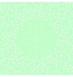 Abstract green color frame design circle made vector