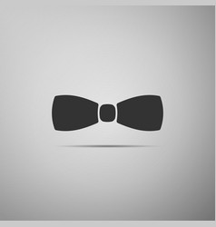 bow tie icon isolated on grey background vector image