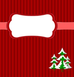 Christmas frame with firs vector image vector image