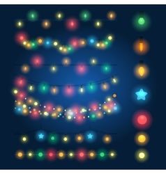 Christmas string lights vector image