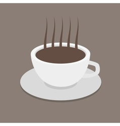 Cup of coffee with coffee grain Photo-realistic vector image