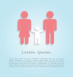 Family infographic design template vector image