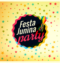 Festa junina party festival background vector