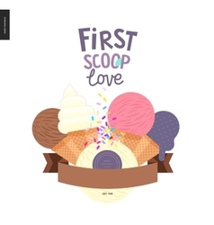 First scoop love vector image vector image