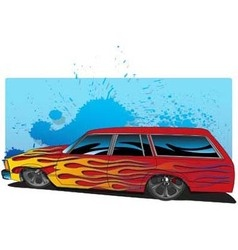 FlamedWagon vector image vector image