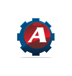 Gear logo letter a vector