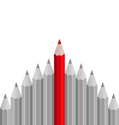 Group of pencils with one highlighted as business vector image