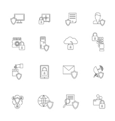 Information Security Icon Outline vector image vector image