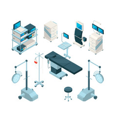 isometric of medical equipment in vector image vector image