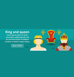 king and queen banner horizontal concept vector image