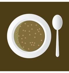 Lentil soup vector