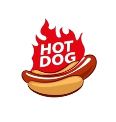 Logo hot dog vector