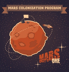 Mars colonization program vector