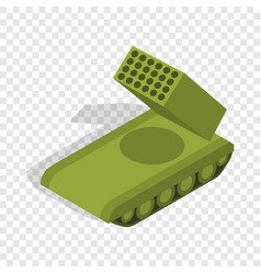 Multiple launch rocket system isometric icon vector
