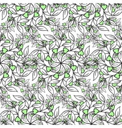 Painted flowers seamless background vector image