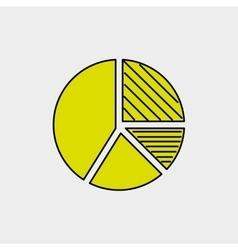 pie graphic design vector image