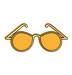 Round frame glasses icon image vector