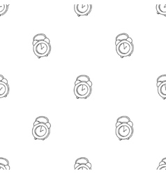 Seamless pattern with the alarm clock Time vector image