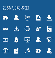 Set of 20 editable web icons includes symbols vector