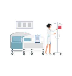 smiling nurse in uniform on vector image vector image