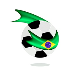 Soccer ball with brazilian flag of brazil 2014 vector