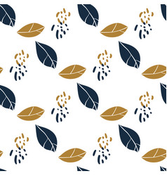 trendy seamless botanical pattern with leaves vector image vector image