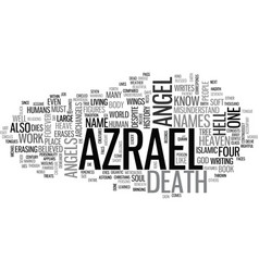 Who is azrael the angel of death text word cloud vector