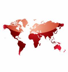 world map reflect red vector image
