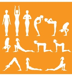 Yoga pose vector