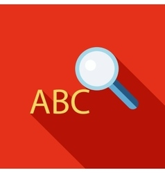 Search dictionary icon flat style vector