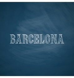 Barcelona icon vector
