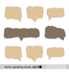 Paper style speech bubbles for the text vector image