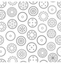 Seamless background with gear wheels vector