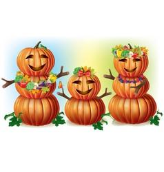 Happy Pumpkin Family vector image