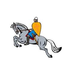 Crusader on Horse vector image