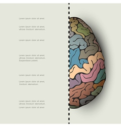 Concept of human brain vector image
