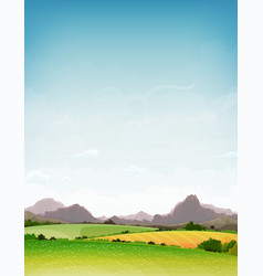 spring and summer nature landscape vector image