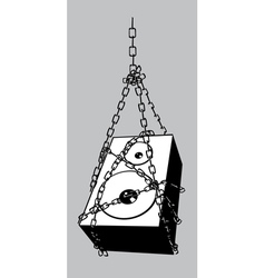 chained speaker vector image