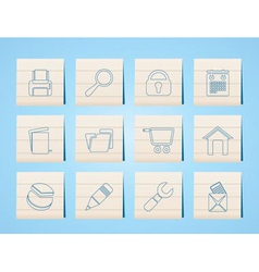 Website and computer icons vector