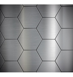 Background of the metal plates vector