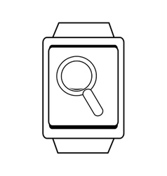 Square watch and lens icon graphic vector