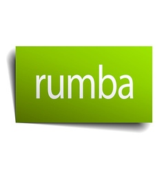 Rumba square paper sign isolated on white vector