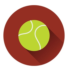 Tennis ball icon vector