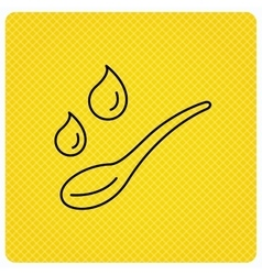 Spoon with water drops icon baby medicine dose vector