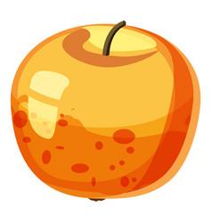 Apple icon cartoon style vector