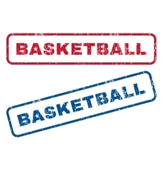 Basketball rubber stamps vector