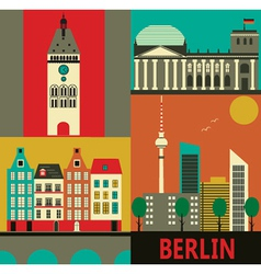 Berlin city vector image vector image