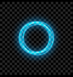 blue illuminated circles with glowing vector image vector image